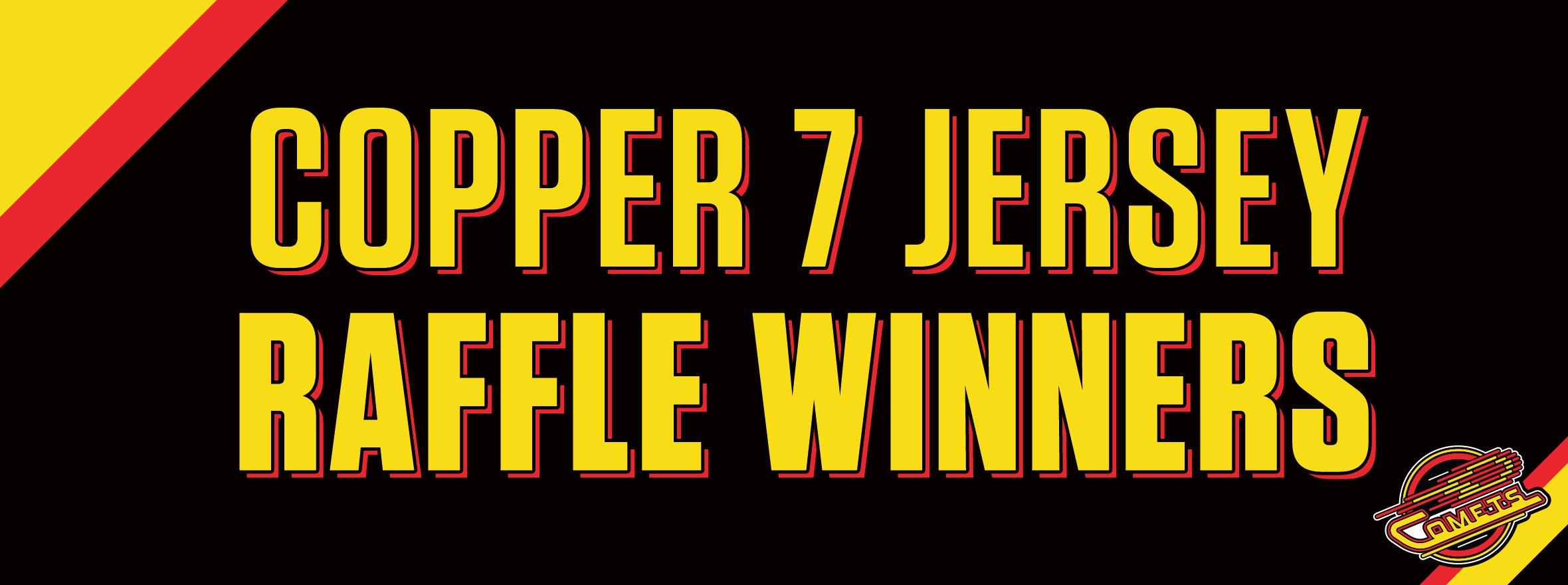 COPPER 7 SERIES JERSEY WINNERS
