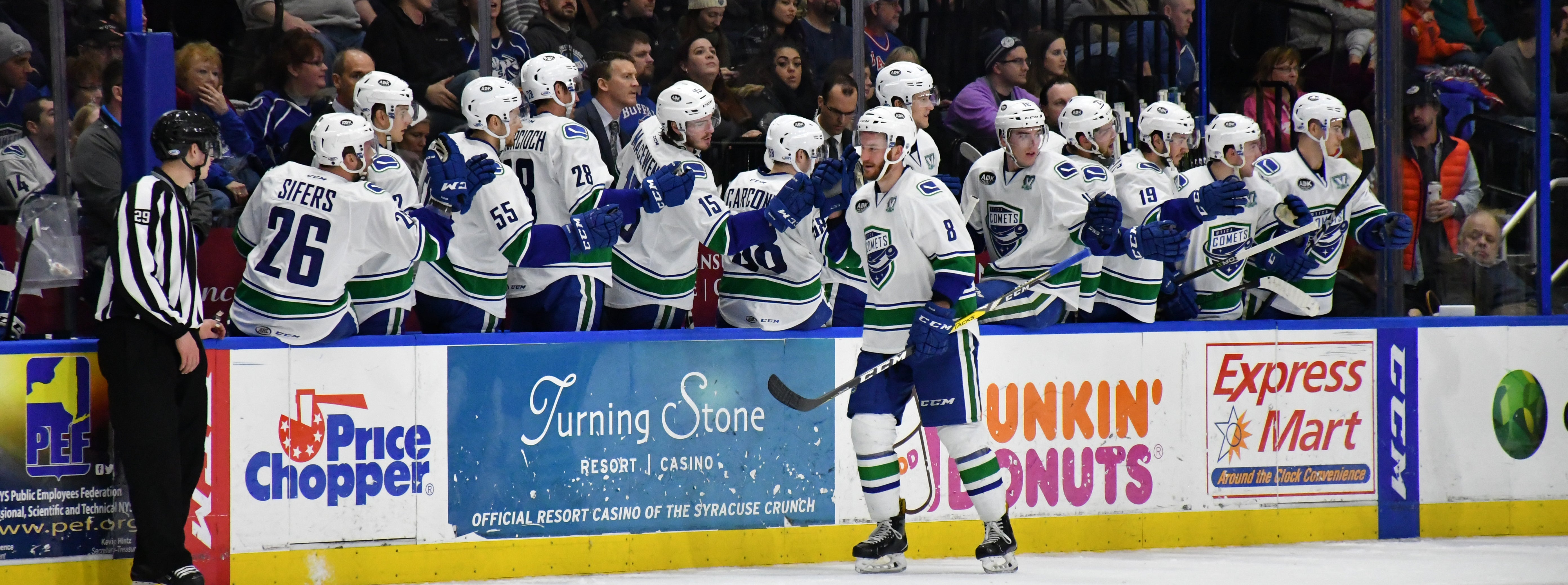 COMETS SCORE 4 UNANSWERED GOALS TO TOP CRUNCH